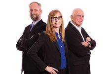 Tom White, Stephanie Kilroy and Michael Traynor Haws Corporation