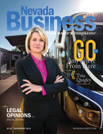 View the November 2014 Issue of Nevada Business Magazine