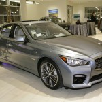The Park Place Infiniti dealership launched the grand opening of its mulitmillion-dollar expansion, showcasing the stylish blue 2105 Infiniti Q50 Hybrid.