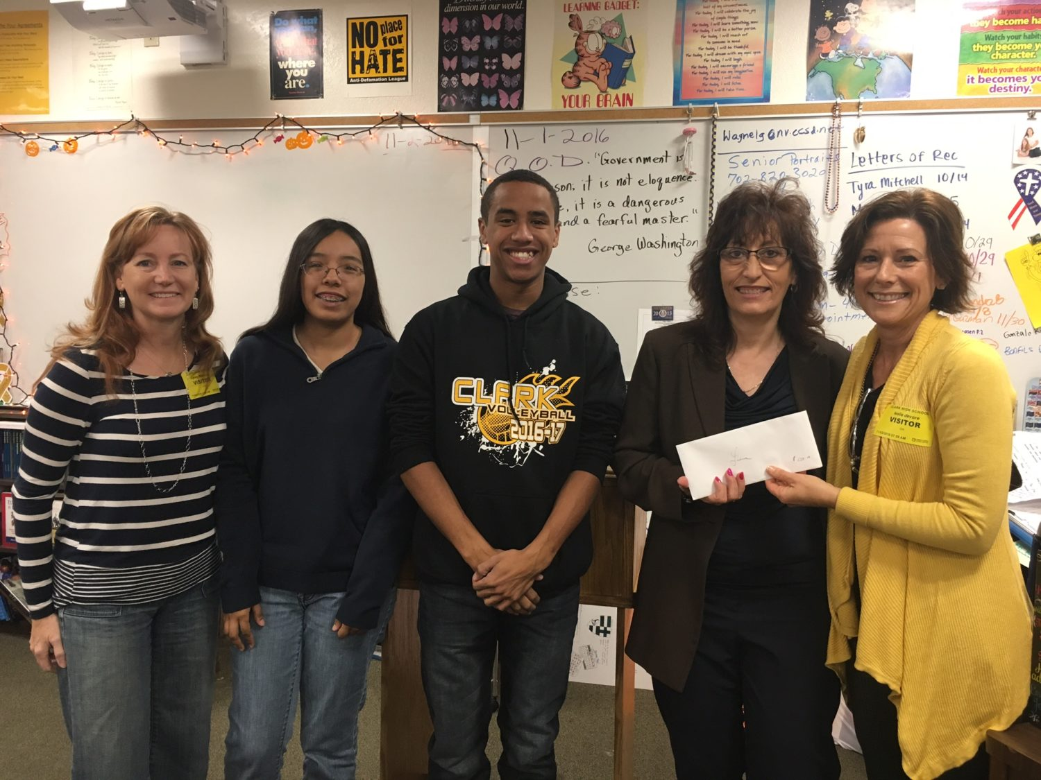 henderson give awards golden give to inspiring clark high teacher henderson give a giving circle started by a dozen friends who wanted to give back