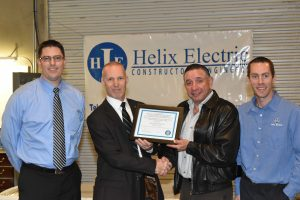 The SCATS of the State of Nevada's Division of Industrial Relations recognized Helix Electric for their successful completion of the SHARP.