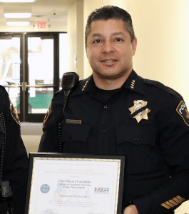 College of Southern Nevada (CSN) Police Chief Darryl Caraballo was honored for the department's steadfast support of the U.S. military.