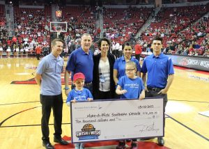 Nevada State Bank presented a check for $10,000 to Make-A-Wish of Southern Nevada.