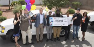 NV Energy joined NPHY representatives to announce a new partnership to help youth in crisis and to donate a truck, toiletries and canned goods, and $20,000.