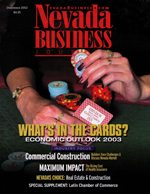 Nevada Business Magazine December 2002 View Issue