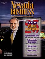 Nevada Business Magazine October 2001 View Issue