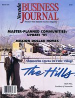Nevada Business Magazine March 1991 View Issue