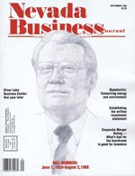 Nevada Business Magazine September 1988 View Issue