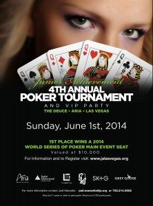 Junior Achievement of Southern Nevada (JA) announces its Fourth Annual Poker Tournament and VIP party on June 1.