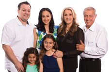Frank Lazzara, Fatemah Emanzadeh, Fahim Akhvansaber and Seyed Emamzadeh,Laila and Ava Lazzara Griddlecakes