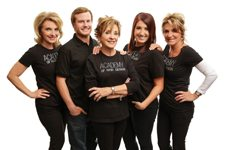 Lori Grieco, Jimmy Nelson, Sandy Dunham, Gina Grieco and Donna Nelson Academy of Hair Design