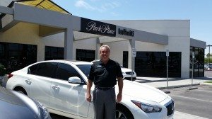 Steve Giger, the Sales Manager at Park Place Infiniti looks too young to boast more than 50 years of experience in the industry.