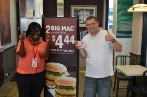 McDonald's announced the winner of its BigMac444 Twitter sweepstakes.