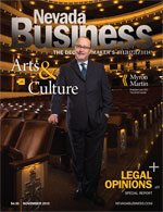 View the November 2015 issue of Nevada Business Magazine.
