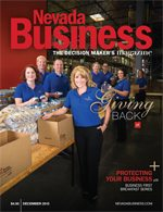 View the December 2015 issue of Nevada Business Magazine!