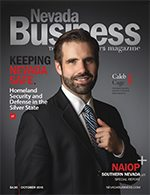 View the October 2015 issue of Nevada Business Magazine!