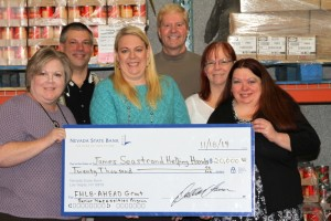 Nevada State Bank, through a partnership with the Federal Home Loan Bank of San Francisco, awarded a $20,000 AHEAD grant to James Seastrand Helping Hands.