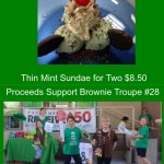 Table 34 Las Vegas, located at 600 E. Warm Springs Road, is helping Brownie Troupe #28 on St. Patrick's Day - March 17, 2015.