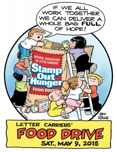 """Dunkin' Donuts will be participating in the upcoming National Association of Letter Carriers' """"Stamp Out Hunger"""" Food Drive."""