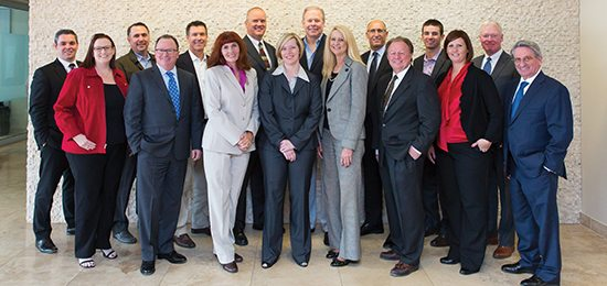 Brendan Keating, Logic Commercial Real Estate; Lisa Callahan, Sage Commercial Advisors; Patrick Sauter, NAI Vegas; Charles Creigh, NewMarket Advisors; Daniel Adamson, ROI Commercial Real Estate; Connie Brennan, Nevada Business Magazine; Mike Montandon, Providence Commercial; Mandy Shavinsky, Snell & Wilmer; Michael Dunn, Cushman & Wakefield | Commerce; Cathy Jones, Sun Commercial Real Estate; Mike Mixer, Colliers International; Richard Truesdell, Cornerstone Company; Tom Fennell, Dickson Commercial Group; Angela Powers-Armstrong, Berkadia; Michael Newman, CBRE; Larry Singer, Newmark Grubb Knight Frank