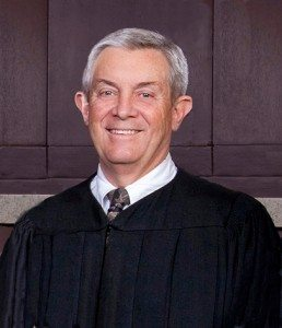 Justice James Hardesty filed for re-election in Carson City, seeking his third six-year term with the Nevada Supreme Court.