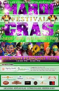 The Lake Las Vegas Master Planned Community and MonteLago Village Association are holding a Mardi Gras Festival and invite the public to enjoy the party on Saturday, Feb. 13 from noon to 6 p.m.