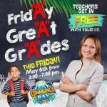 Cowabunga Bay's FridAy's GreAt GrAdes program will allow students with three or more A's (or equivalent) into Cowabunga Bay for free.