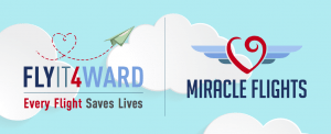 Miracle Flights, a national medical flight nonprofit is launching a philanthropic initiative encouraging donors to give through Flyit4ward.