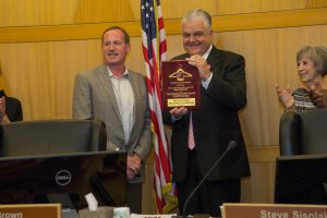 "Clark County Commission Chairman Steve Sisolak is the official winner of Goodwill of Southern Nevada's ""Spring Clean for Goodwill Challenge."""