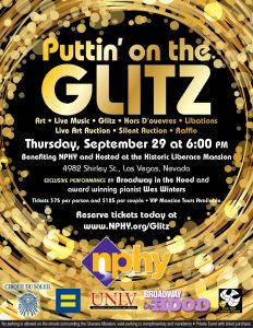Join the historic Liberace Mansion as it hosts the fundraising event to benefit its neighbor, Nevada Partnership for Homeless Youth (NPHY.)
