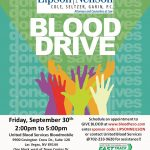 A blood drive will be hosted by the Lipson Neilson law, at its office building, on Friday, September 30, 2016 from 2:00pm -5:00pm.