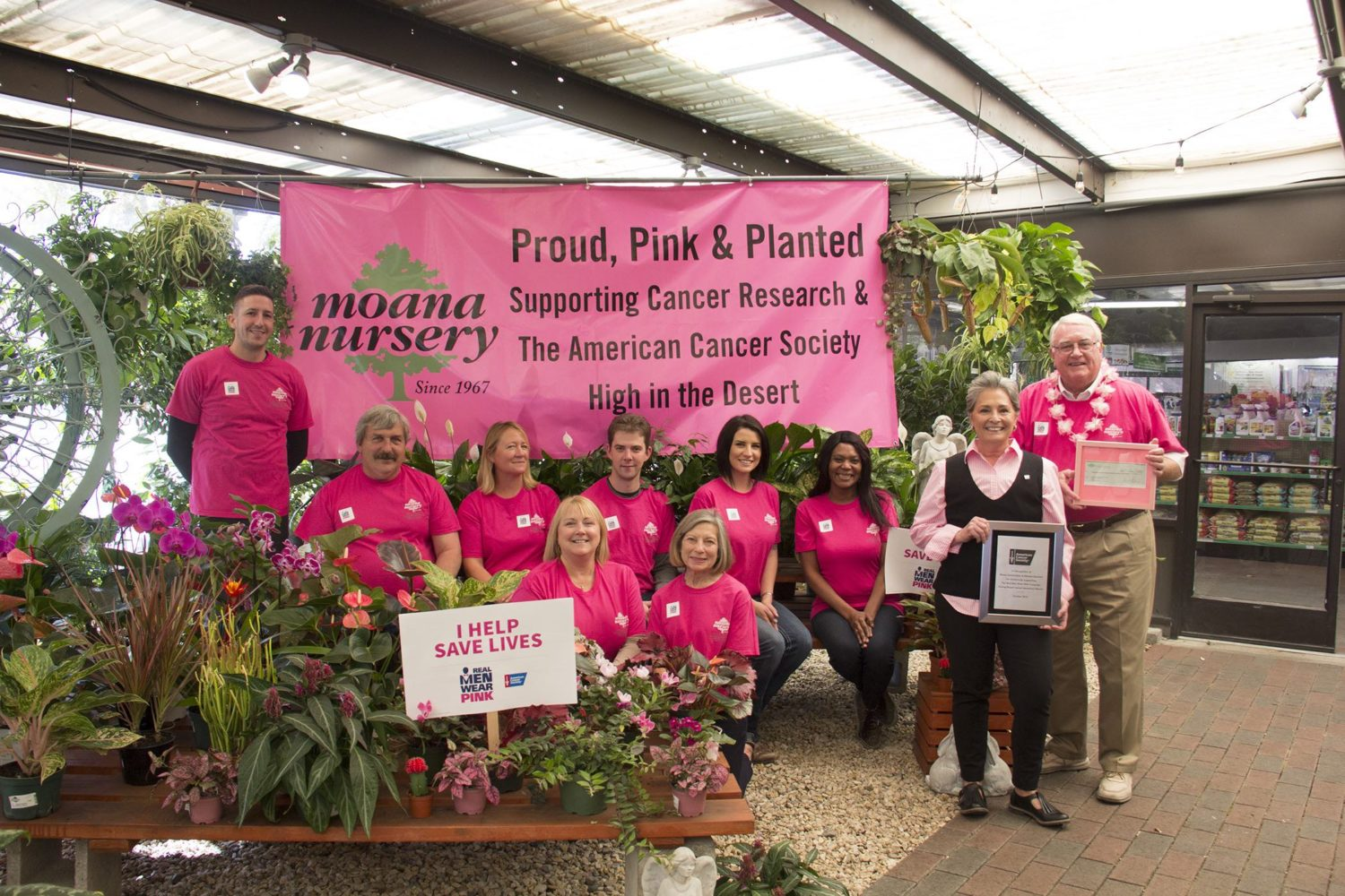 Moana Nursery Presented A Check For More Than 8 000 To The American Cancer Society Help