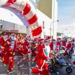 Santas will take over Downtown Las Vegas for the 12th annual, iconic Las Vegas Great Santa Run benefitting Opportunity Village on Saturday, December 3.