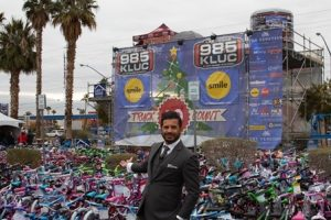 Naqvi Injury Law showed its support for underprivileged Las Vegas families with its fourth annual sponsorship of the 98.5 KLUC Toy Drive