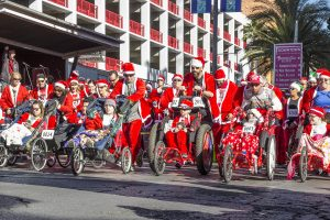 The 12th annual Las Vegas Great Santa Run over an estimated 8,000 adults, children and pets clad in Santa suits to Downtown Las Vegas