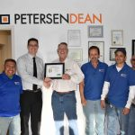 Nevada's Safety Consultation and Training Section Awards PetersenDean Roofing and Solar with Safe Partner Award