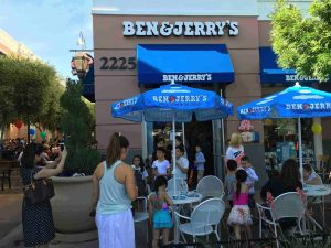 Las Vegas entertainers and chefs will serve free ice cream at the District location of Ben & Jerry's throughout Free Cone Day on Tuesday, April 4, 2017.