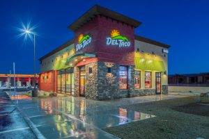 Las Vegas-based DC Building Group, announced the general contractor has recently completed two Del Tacos and a Raising Cane's in Henderson.