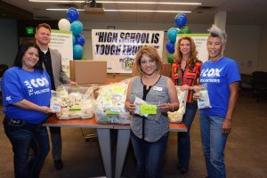 During National Volunteer Month in April, some 60 employees at Cox Communications volunteered to support Project 150 by assembling much needed hygiene kits
