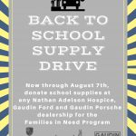 Nathan Adelson Hospice is collecting items for its annual 'Back to School Supply Drive' to help local children in the 2017/2018 school year.