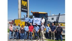 The SCATS of the Division of Industrial Relations recently recognized Papé Machinery in Sparks, Nevada with the Company's third SHARP Award.