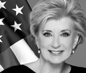 Linda McMahon is newly appointed to the role by President Trump and the first of such appointees to visit the Silver State.