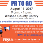 PR to Go is a speed-dating style workshop where attendees will get tips and tools they need to develop successful strategic communications plans, for free.