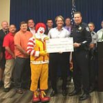 Las Vegas McDonald's Owner/Operators Donate $10,000 to Injured Police Officers Fund