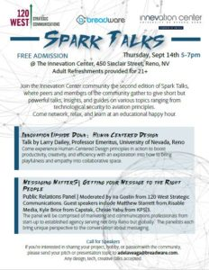 Community experts will be sharing insights at The Innevation Center's second edition of Spark Talks, a no-cost event showcasing speakers.