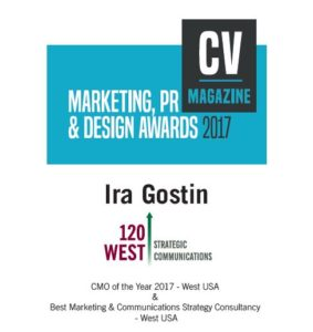 120 West Strategic Communications of Reno, Nevada, was named the top agency in the Western U.S. by Corporate Vision Magazine