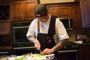 Chef Anthony Ashworth, a first-time competitor at the Reno Bites Week Chef Showdown wowed the judges Saturday afternoon, October 14, 2017