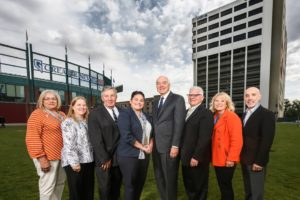The National Council of Juvenile and Family Court Judges celebrated the installation of its downtown office exterior sign in partnership with UNR.