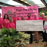 Moana Nursery presented a check for more than $6,600 to the American Cancer Society to help support breast cancer research.