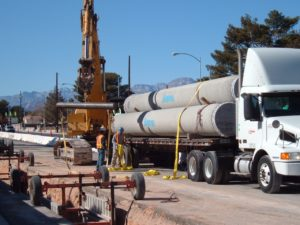 Pipes on a truck. Click to learn more about The Las Vegas Valley Water District (LVVWD) water system renewal initiative.